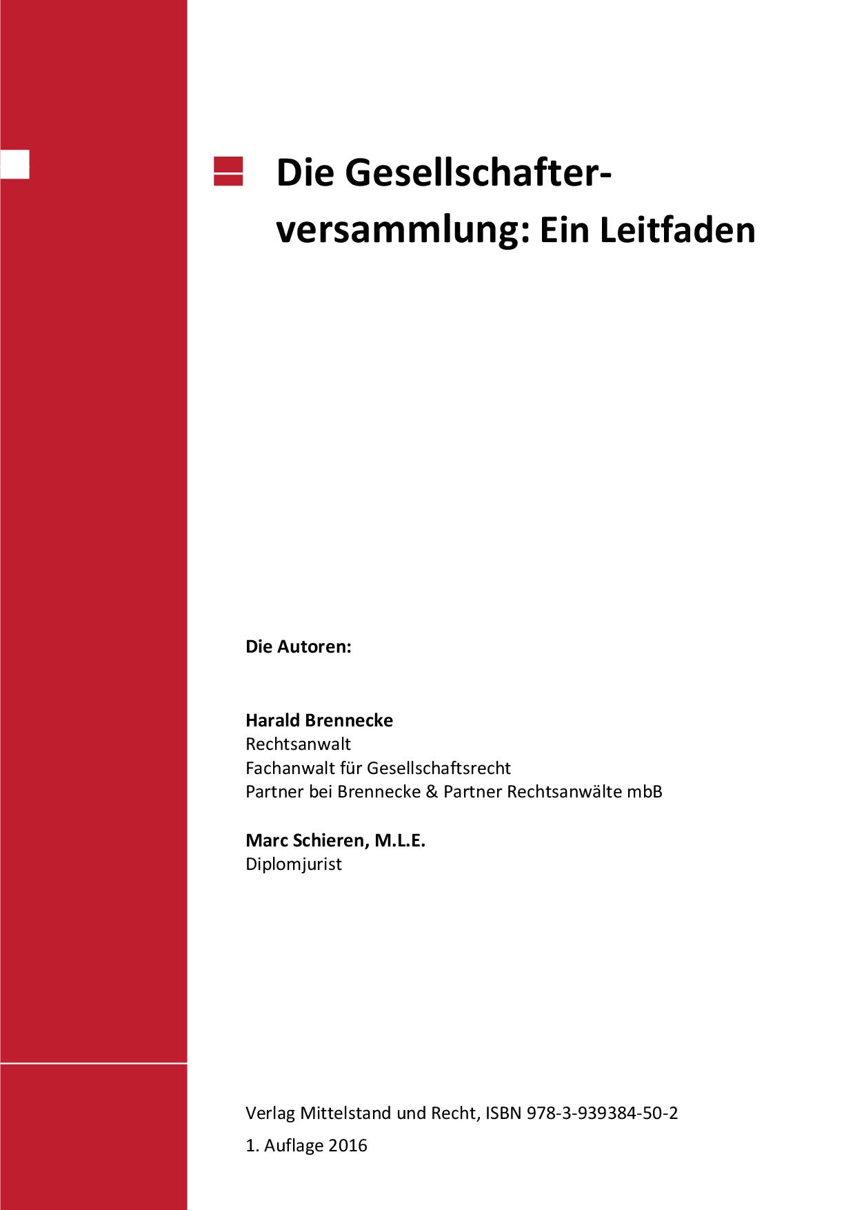 Protokoll Gesellschafterversammlung Muster Zum Download
